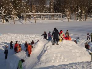 平岡公園冬のにぎわいフェスタの様子