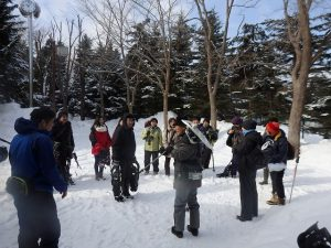 平岡公園ツリーウォッチング~スノーシューで森を散歩~