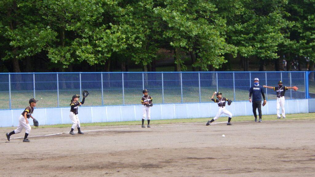 野球教室 チーム教室 キャッチボール