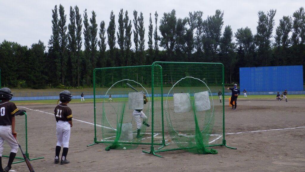 野球教室 バッティング練習